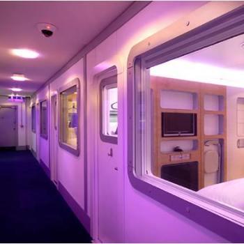 yotel, airport hotel, capsule