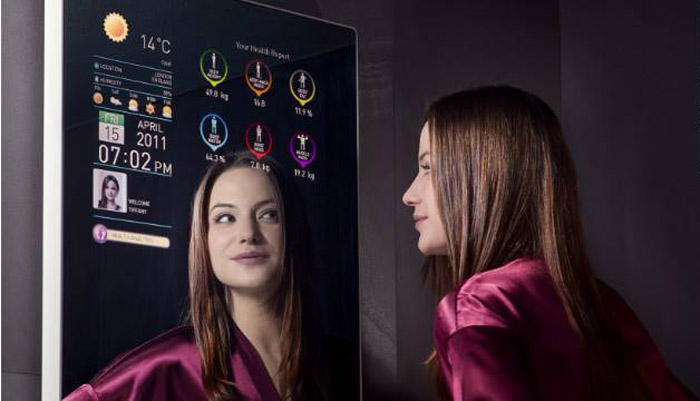 Cybertecture Mirror, Interactive Mirror, Smart Mirror