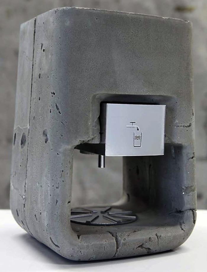 Concrete Espresso Machine, Lavazza, Shmuel Linski