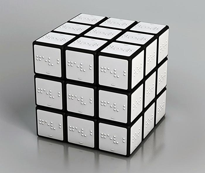 Braille Rubiks Cube, White Rubiks Cube, Blank Rubiks Cube, Konstantin Datz