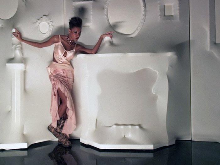 Set Design, Jean Paul Gaultier, Embossed Walls, Stretch Walls