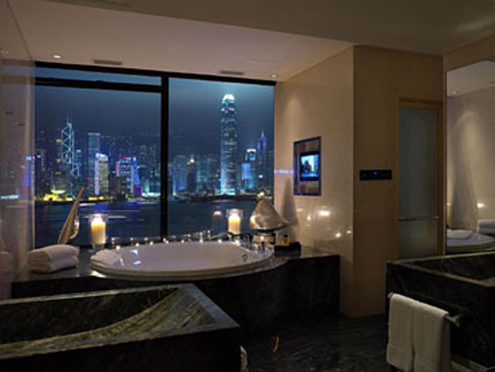 InterContinental Hotel, Hong Kong, bathroom with a view