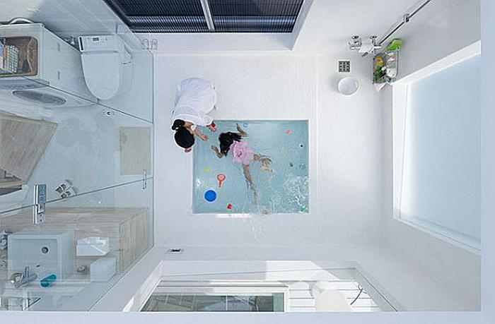 Sou Fujimoto, Minimal Home Design, Tiny Home, Tokyo, Cube House, bathroom