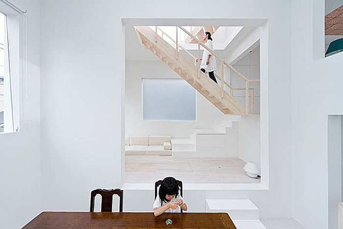Sou Fujimoto, Minimal Home Design, Tiny Home, Tokyo, Cube House, interior