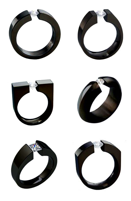 Diamond Ring, Titanium, Tension Setting, absolute titanium