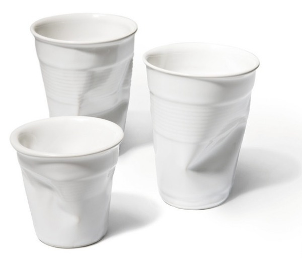 rob brandt, ceramic plastic cups, crushed cups