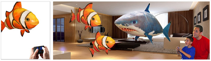 Air Swimmers, remote control balloons, fish, shark