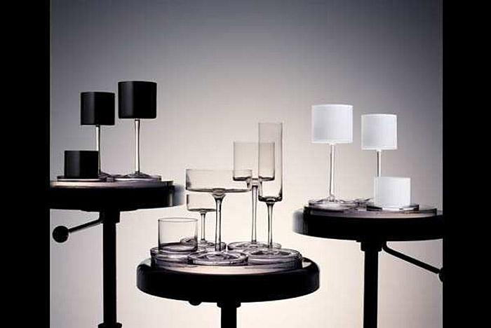 Orrefors, Karl Lagerfeld, glassware. wine, scotch, whiskey, glasses