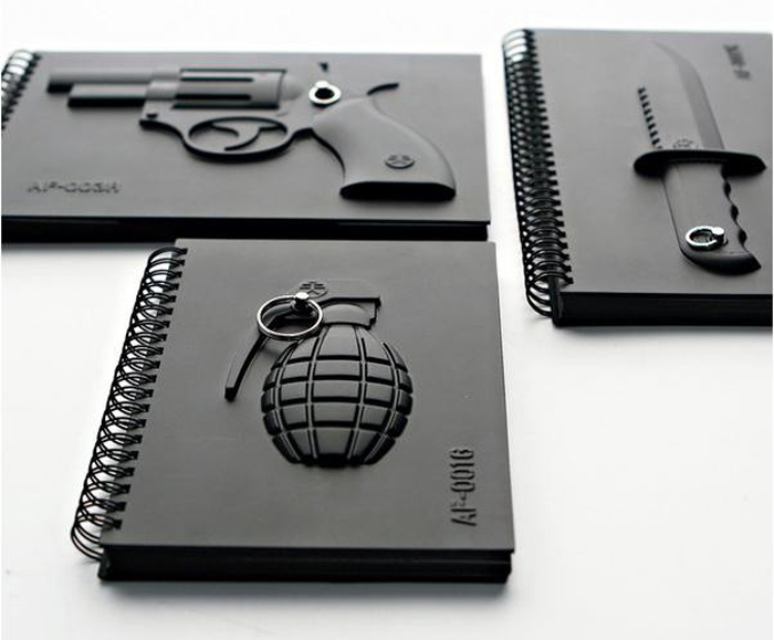 Ammo Notebooks, black notebooks, journal, diary, planner, matte black