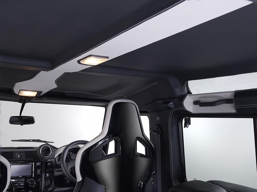 Overfinch Defender, interior, 40th Anniversary Edition, custom landrover, custom defender, aftermarket