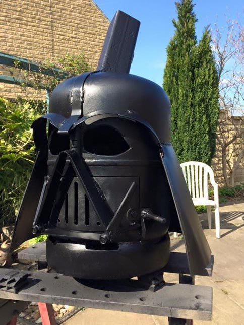 Darth Vador Wood Burner