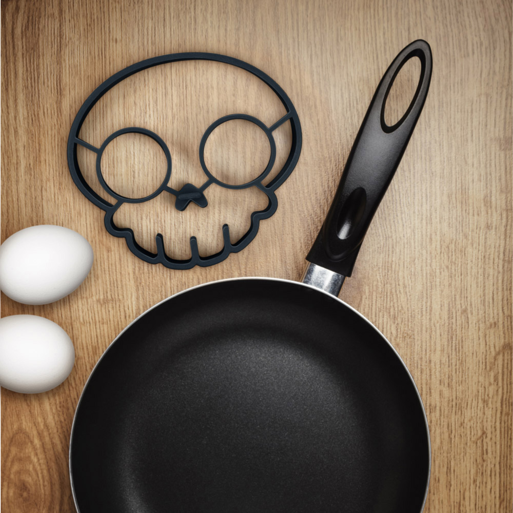 Skull Egg Shaper, Skull Eggs, Funny Side Up