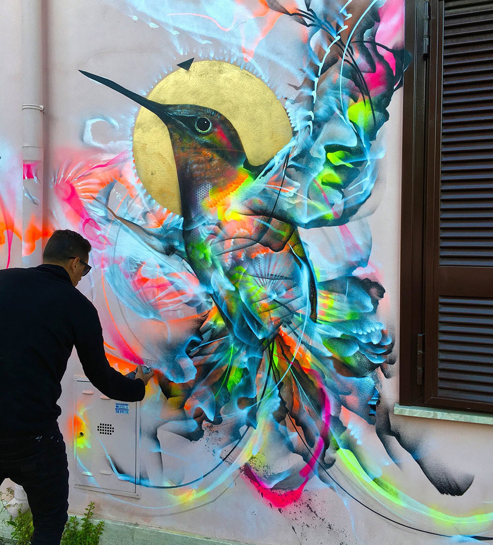 L7M, STREET ART, Graffiti Birds