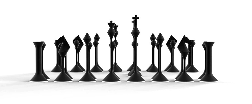 Primer Studios Chess Set, Black and White Chess