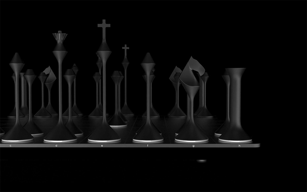 Primer Studios Chess Set, Black and White Chess, chess design