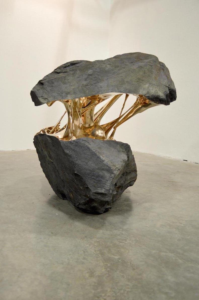 Romain Langlois, Bronze Rock Sculptures