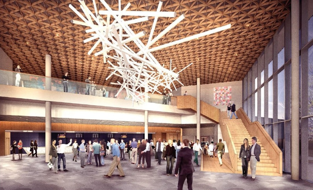 Rendering of expanded Atrium