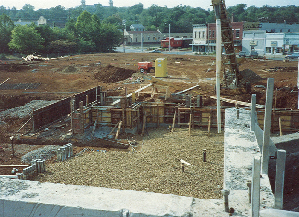 Construction of Walton Arts Center in 1991