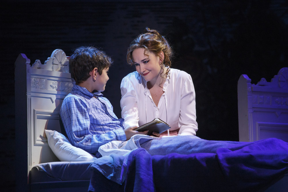 Ben Krieger as Peter Llewelyn Davies and Christine Dwyer as Sylvia Llewelyn Davies in the National Tour of Finding Neverland Credit Carol Rosegg.jpg