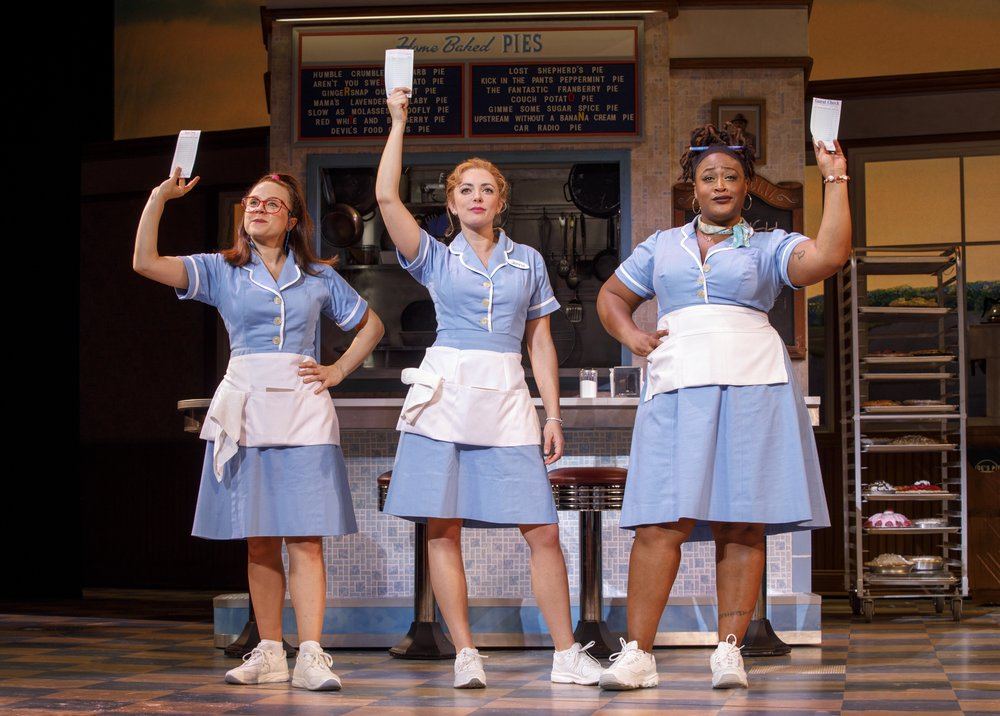 Lenne Klingaman, Desi Oakley and Charity Angel Dawson in the National Tour of WAITRESS  Credit Joan Marcus 1543r.jpg