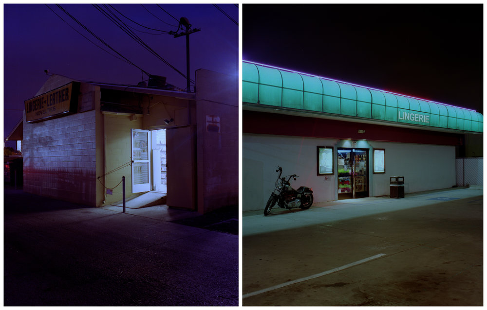 sex shops, medium format analog