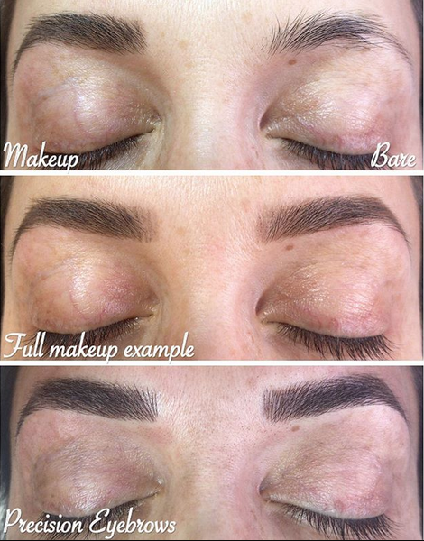 Before, Makeup & Completed by Nicole