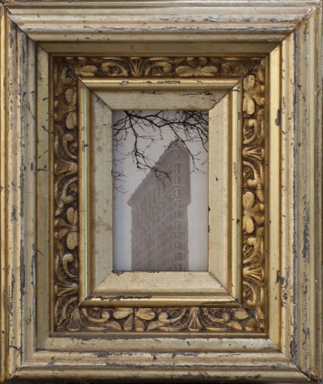 The Flatiron                        Pigment print, antique gilded frame
