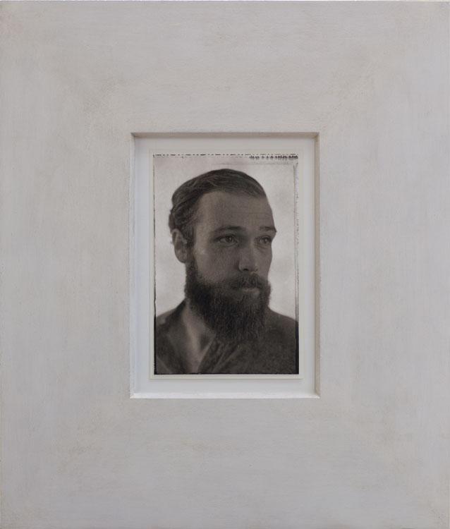 Dylan  pigment print, artist made frame
