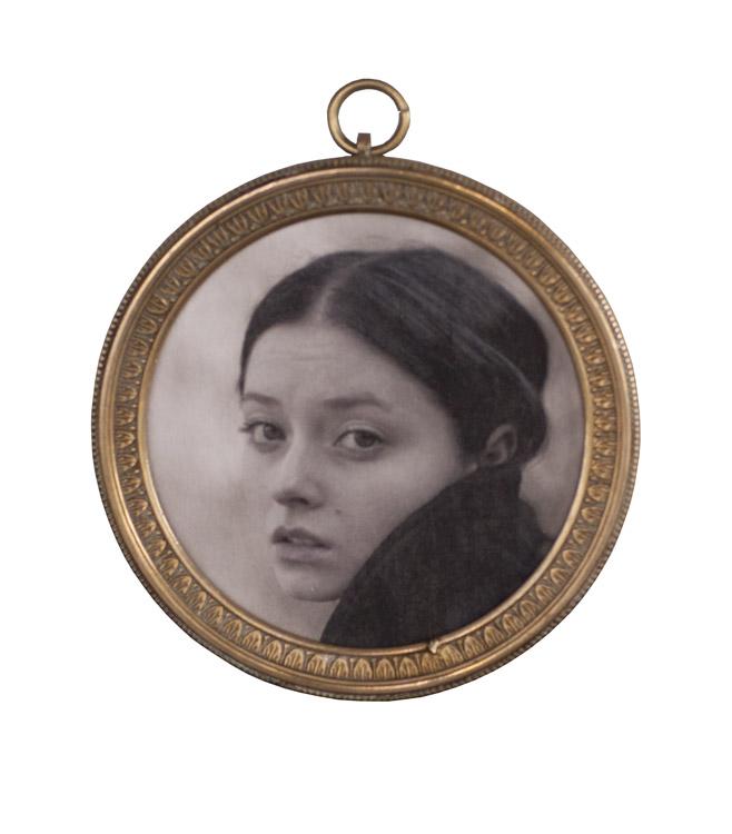 Alina      Pigment print, antique brass frame