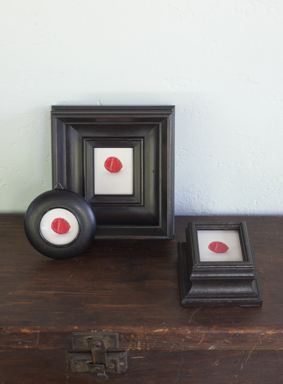 Garden ( Three versions )                pigment prints in antique frames
