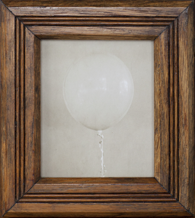 Balloon              Pigment print, antique oak frame