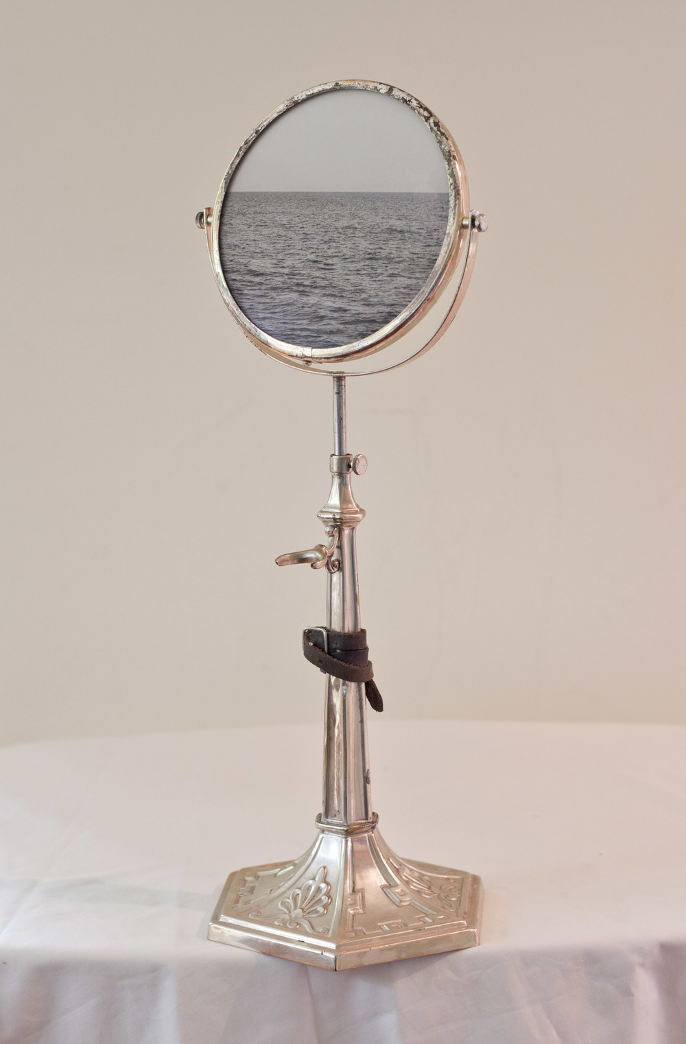 Bound for Glory          Pigment print, antique shaving mirror