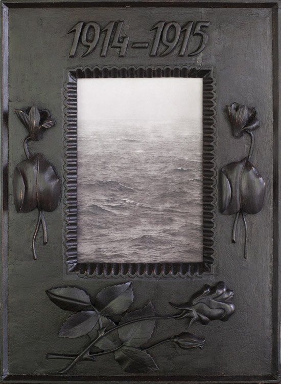 Rainstorm at Sea                    Pigment print, antique carved frame