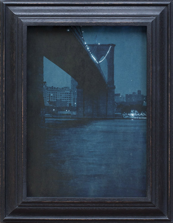 Brooklyn Bridge Nocturne         pigment print, artist made frame