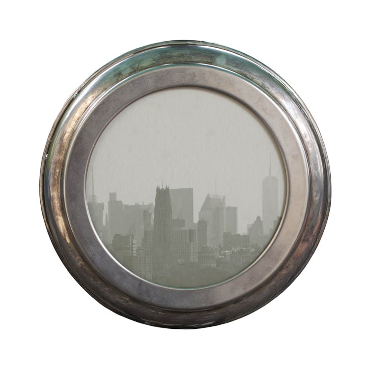 My City       pigment print, vintage metal frame
