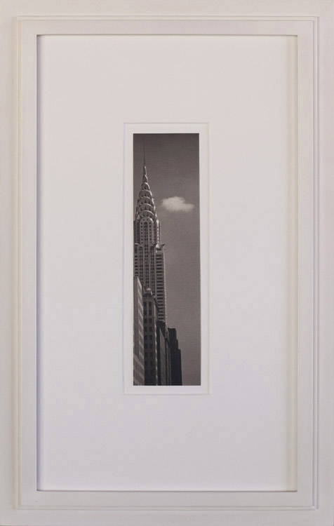 Chrysler and Cloud        Platinum print, artist made frame