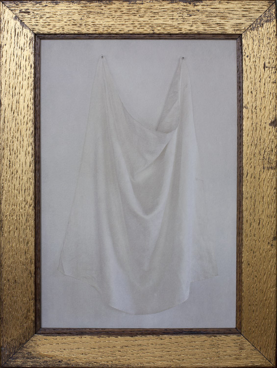 White Linen         Pigment print, antique gilded oak frame