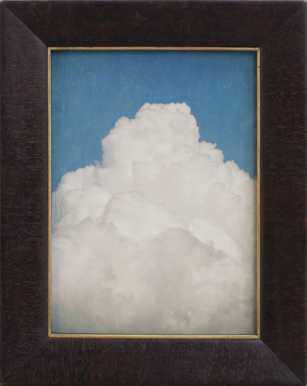 Clouds for Beckett        pigment print, antique frame