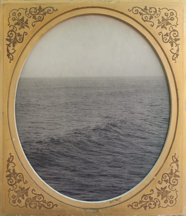 Maybe the Waves         pigment print, antique frame