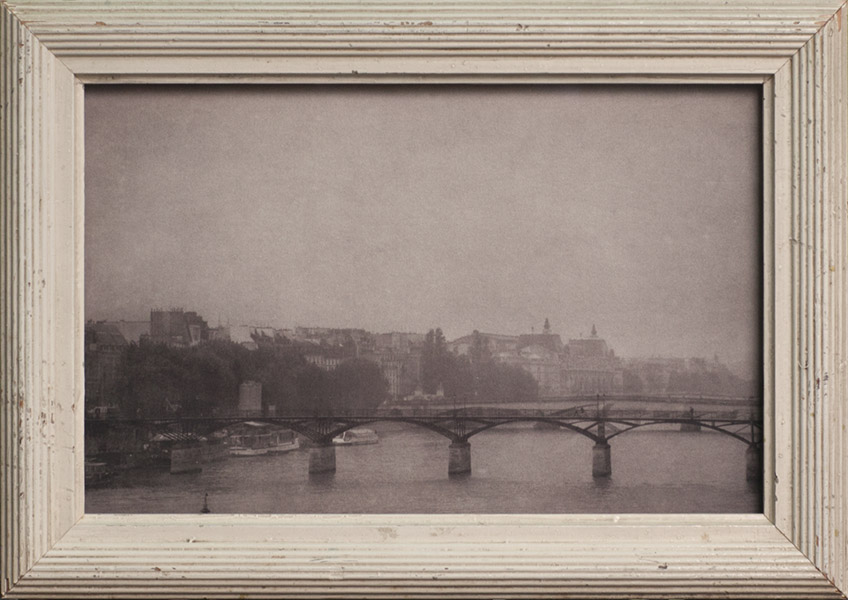 Rainstorm, Paris                 Pigment print, antique frame