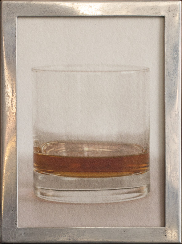 Scotch          pigment print, antique silver frame