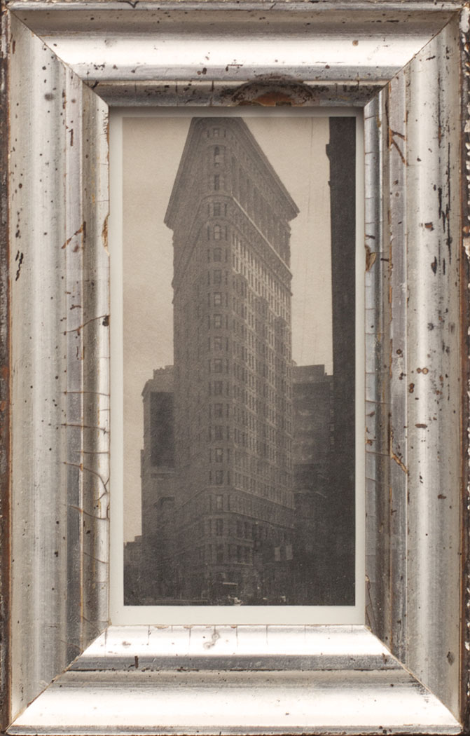 The Northern Towers      Pigment print, antique silver gilded frame