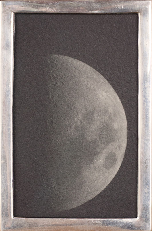 The Moon from Roberts House        Pigment print, antique silver frame
