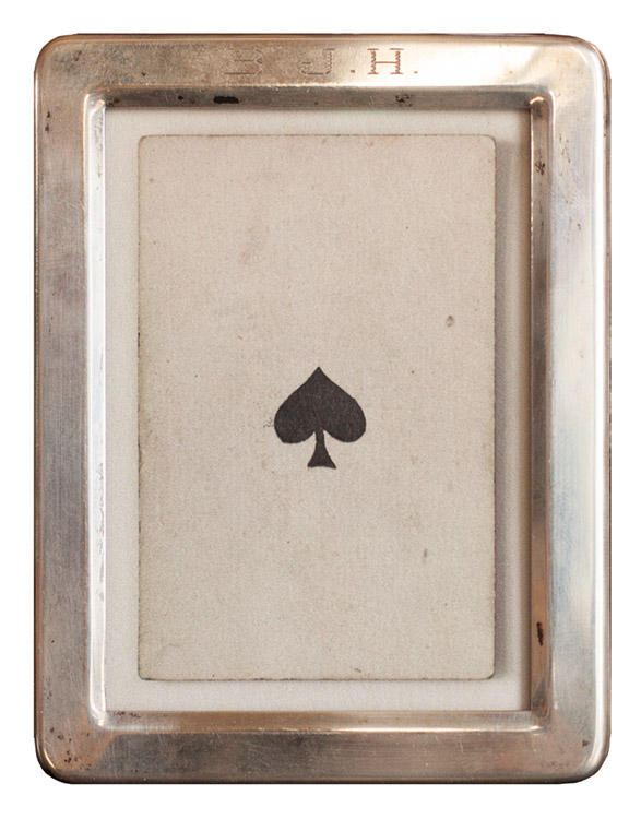 Ace of Spade  s           Pigment print, vintage sterling silver frame