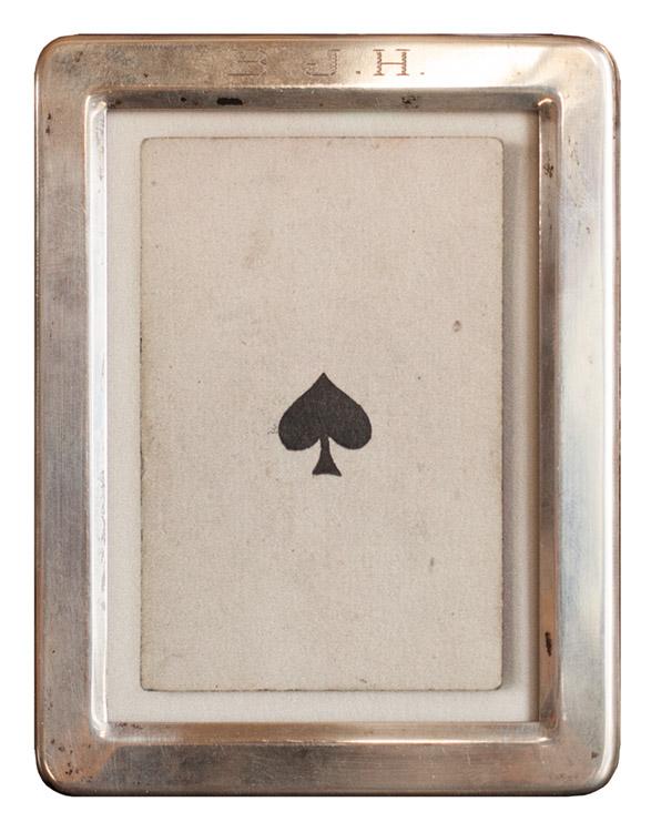 Ace of Spade  s      Pigment print, vintage sterling silver frame