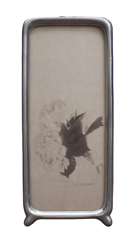 New York Flowers      Pigment print, vintage cast aluminum frame