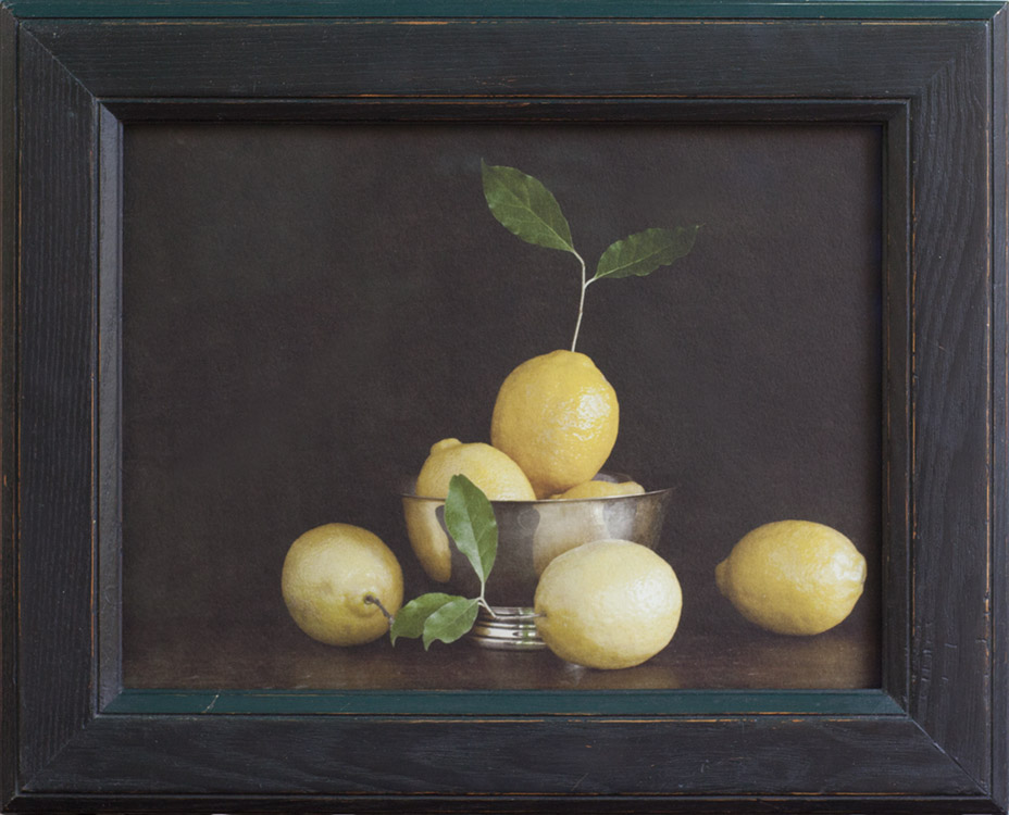 Still Life With Lemons       Pigment print, antique frame