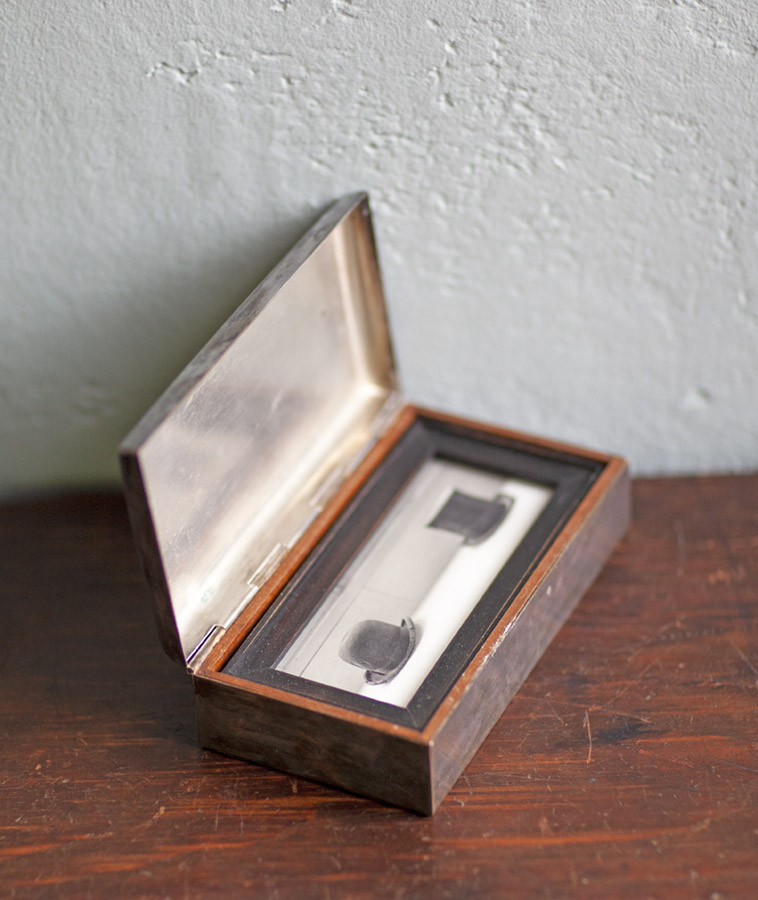 Ceremony        Pigment print, antique frame & vintage silver box