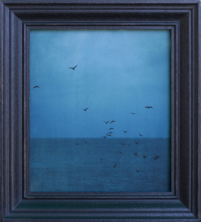 The Evening Seas                 pigment print, artist made mahogany frame