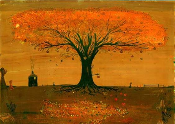 Ray Bradbury aynı zamanda bir ressam ve sanat koleksiyoneri -Yukarıdaki Halloween isimli eser Bradbury'nin fırçasından çıkma.